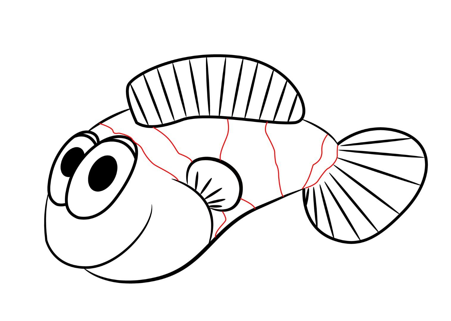 1515x1080 How To Draw A Cartoon Clownfish