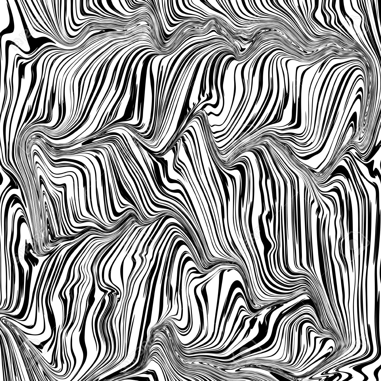 1300x1300 Abstract Black And White Texture Curved Lines Vector Background