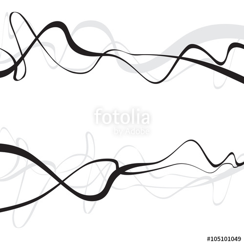 500x500 Abstract Art Design, Abstract Background With Curvy, Curved Lines