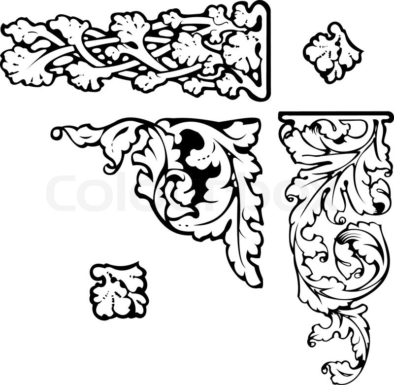 800x781 Baroque Clip Art. All Curves Separately.more In My Portfolio