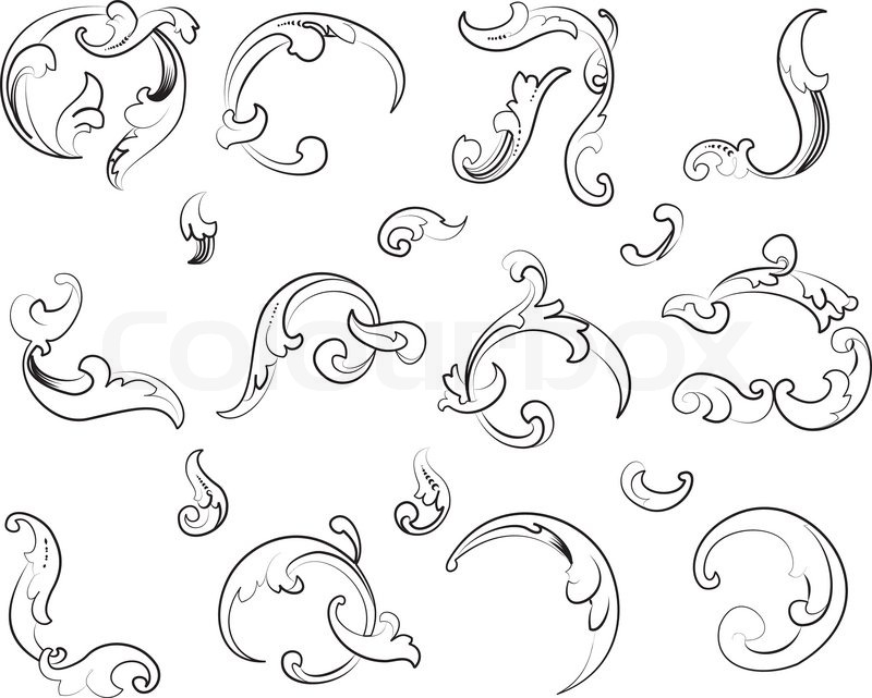 800x641 Baroque Design Element Traditional Style. All Curves Separately