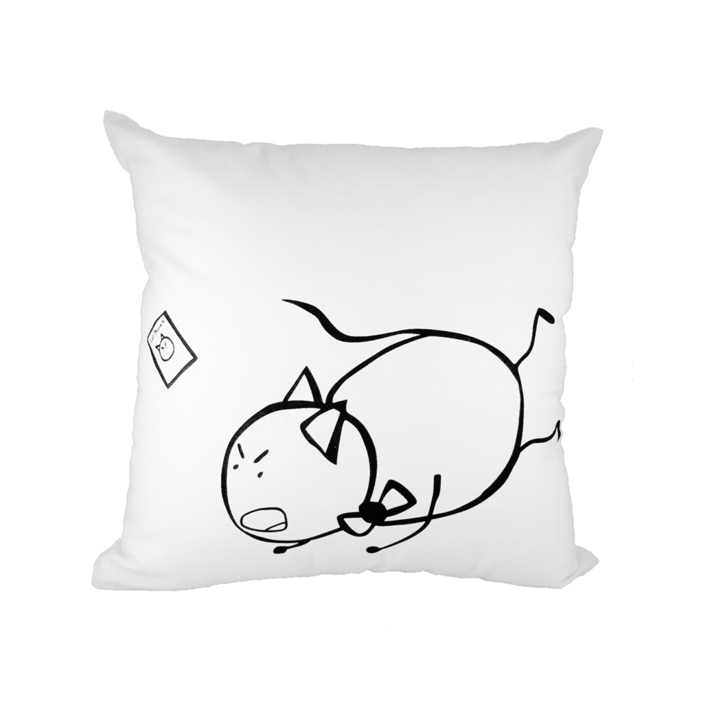 1024x1024 Poncat Trips And Falls Throw Pillow