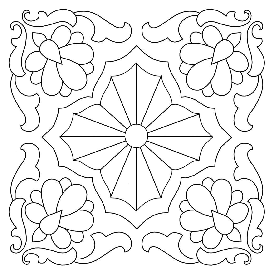 1152x1152 Quilting Design From Cushion Embroidery Transfer 3 Lots