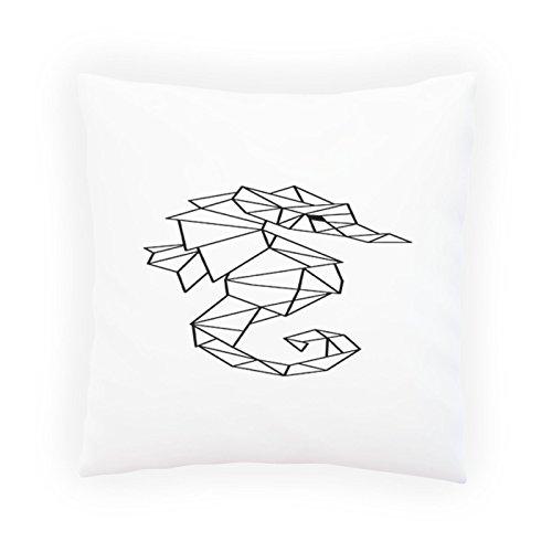 500x500 Sea Horse Ocean Geometric Decorative Pillow , Cushion Cover