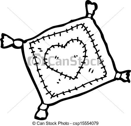 450x433 Stitched Cushion Cartoon Vectors Illustration