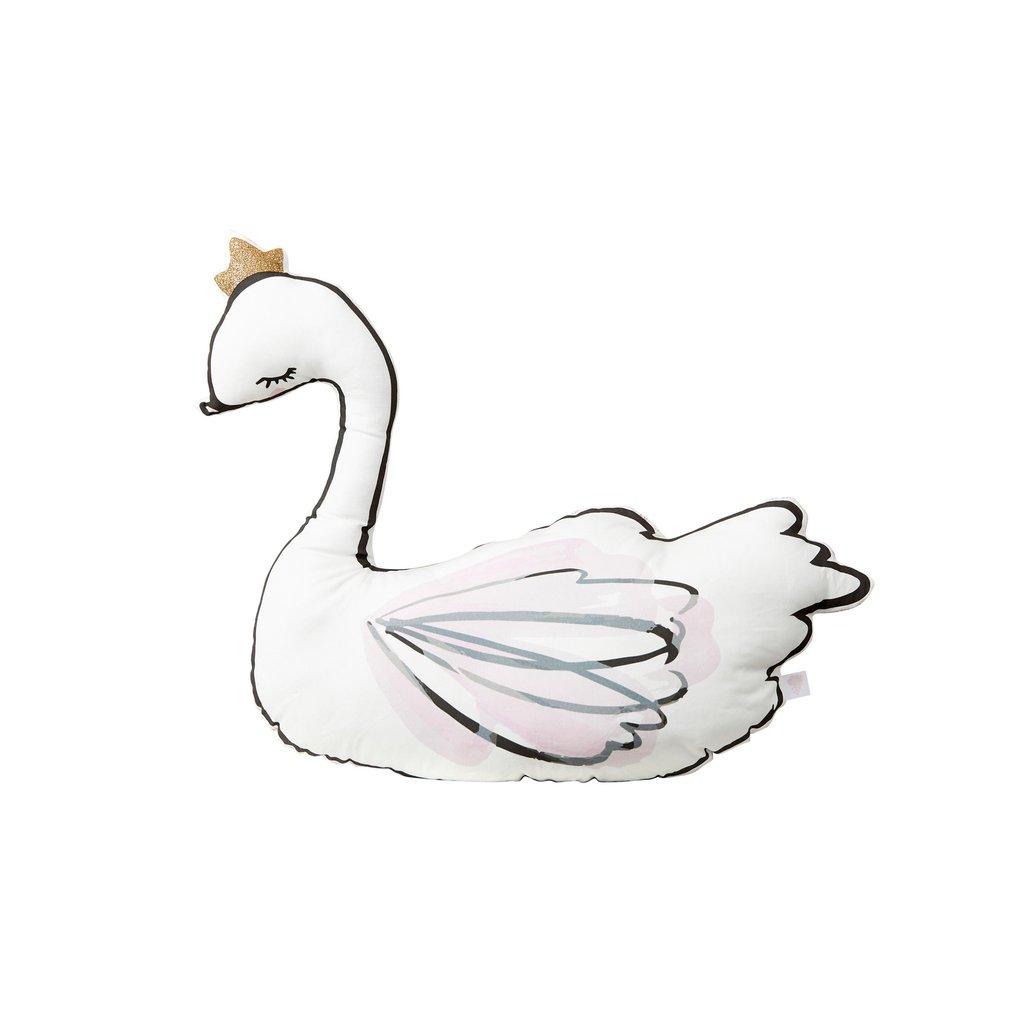 1024x1024 Swan Princess Liberty Print Cushion By Little Cloud
