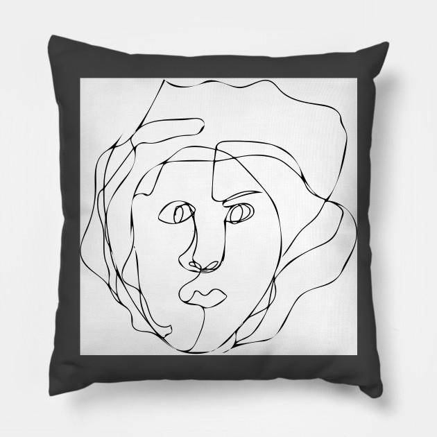 630x630 Blind Contour Drawing Portrait