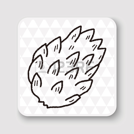 450x450 Custard Apple Doodle Royalty Free Cliparts, Vectors, And Stock