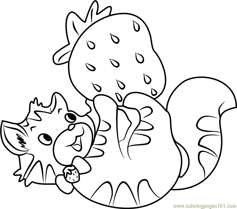 800x704 Custard The Cat Playing Coloring Page