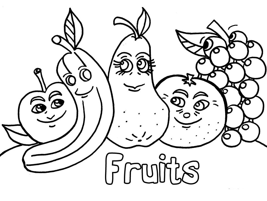 1060x800 Gallery Of Fruit Coloring Pages Free Download Printable For Kids