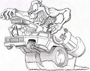 300x237 Car Cartoon Drawings Graphics Design