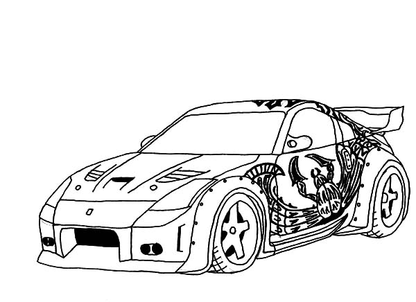 custom car drawing at getdrawings free for personal use custom Mini Cooper Pick Up 600x436 drift car coloring pages nissan coloring pages
