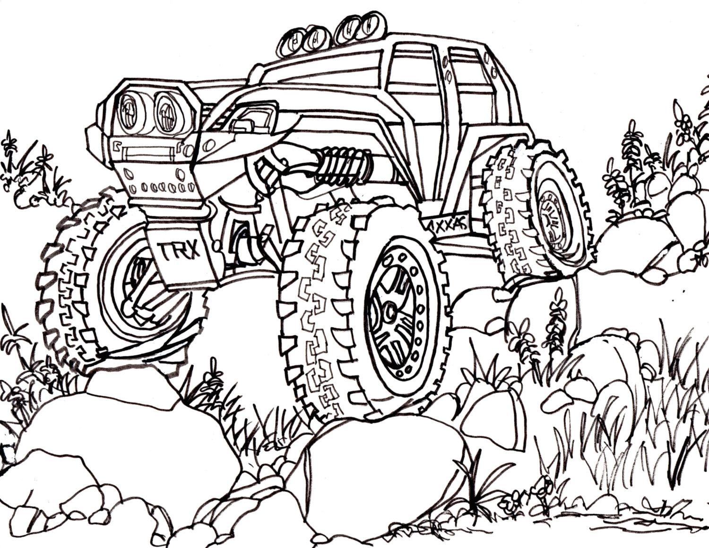 1500x1159 Traxxas Jumping Drawing Truck 4x4 Rc Crawler Car