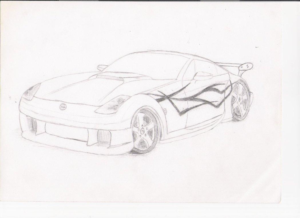 1049x762 Custom Nissan 350z Sketch By Twe4k