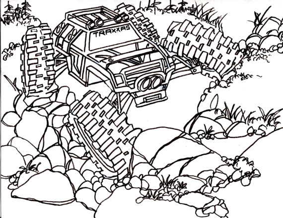 570x440 5 Traxxas Summit Coloring Pages Drawing Truck 4x4 Rc