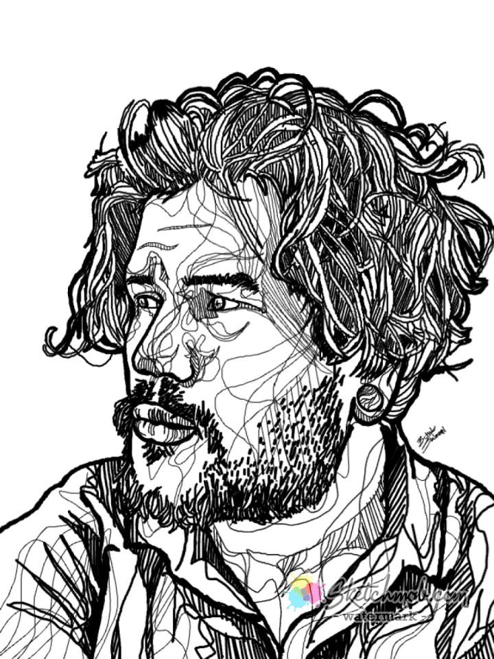 720x961 Custom Abstract Line Drawing Portraits Commission Sketchmob