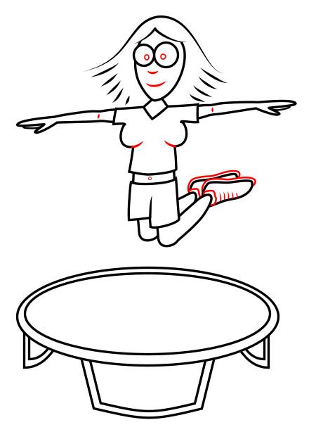 450x624 Drawing A Cartoon Trampoline