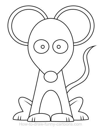 350x449 Drawing A Mouse Cartoon