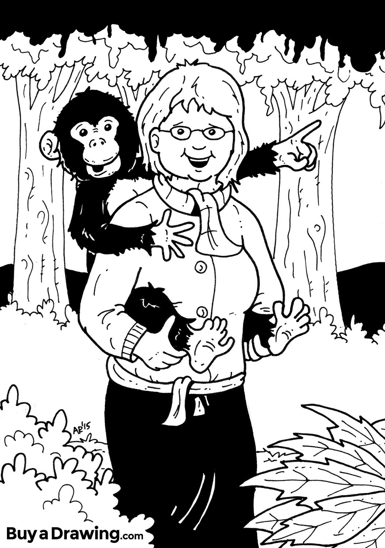 1053x1500 Monkey On Your Back Custom Cartoon Birthday Drawing