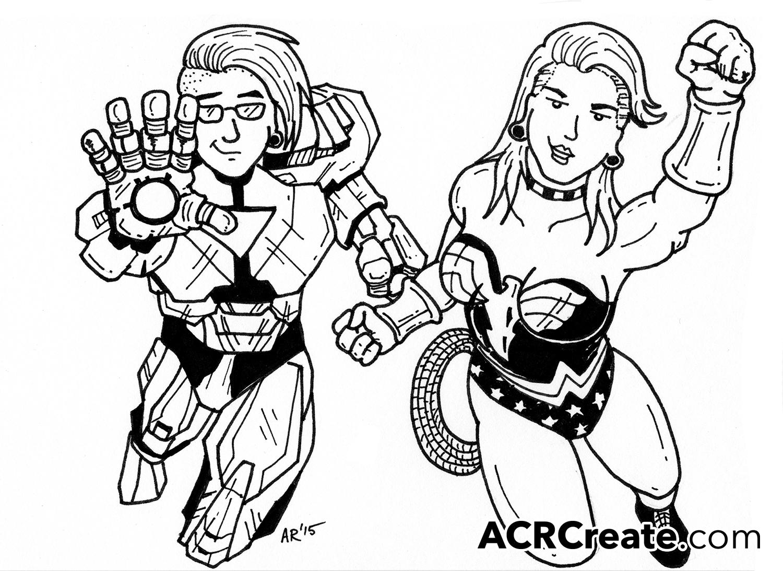 1500x1093 Superhero Custom Cartoon Caricatures