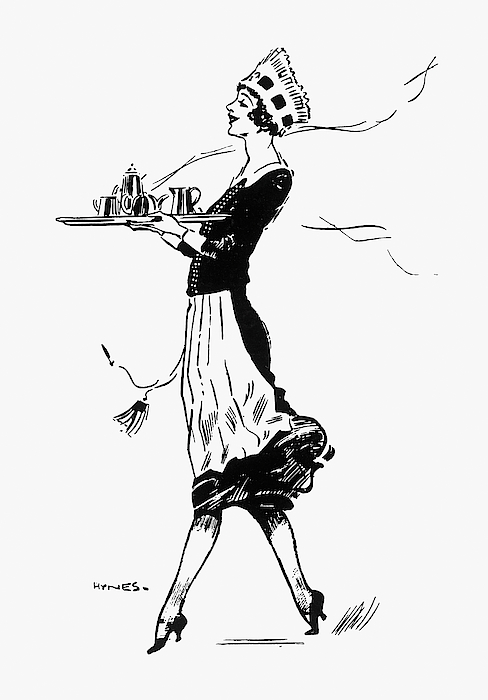 488x700 A Pot Of Tea Is Brought To A Customer Drawing By Mary Evans