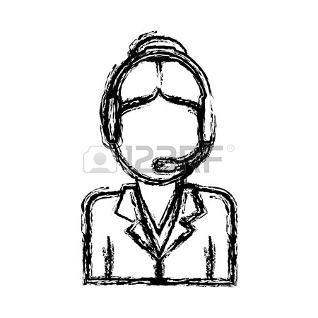 450x450 Woman With Headset Icon Over White Background Customer Service