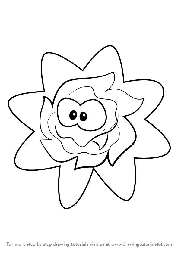 600x847 Learn How To Draw Ginger From Cut The Rope (Cut The Rope) Step By