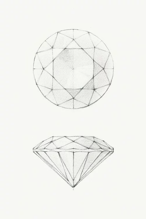500x750 How To Draw A Diamond Art Diamond, Drawings