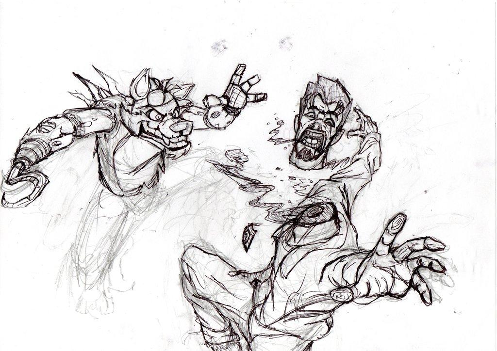 1024x724 Clean Cut Sketch Fnaf By Edgar Games