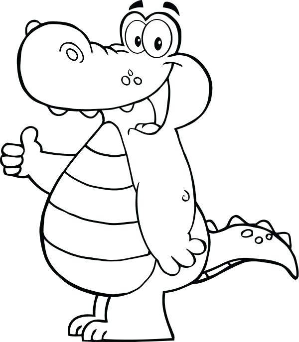 600x687 Cartoon Alligator Coloring Pages Coloring Pages