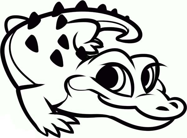 600x444 Cute Alligator Coloring Pages