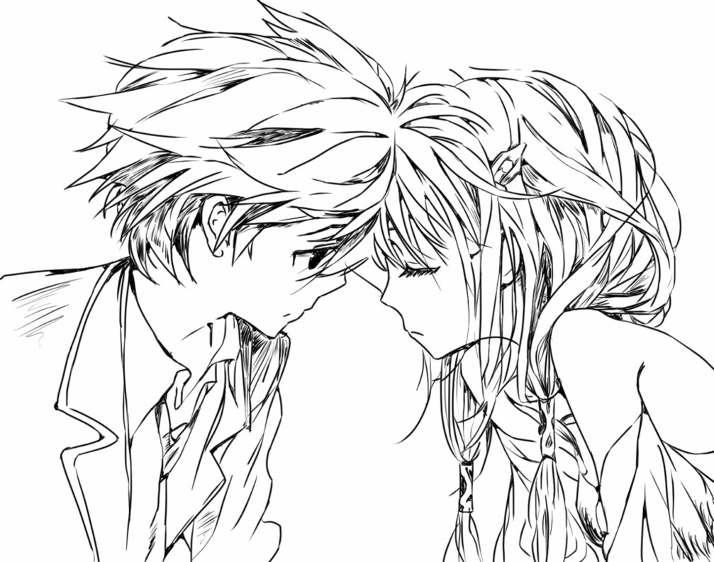 Cute Anime Couple Drawing At Getdrawings Com Free For Personal Use