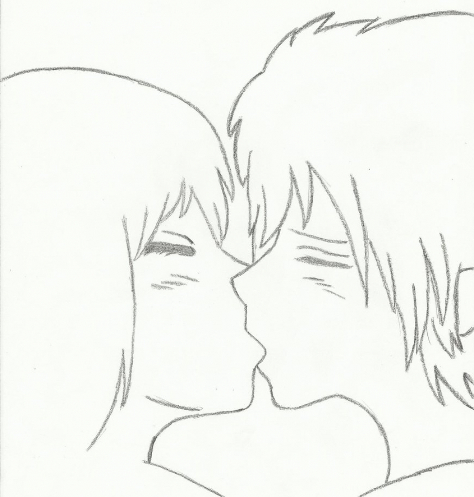 976x1024 Cute Anime Couple Drawings Easy Easy Anime Drawing Couple Older