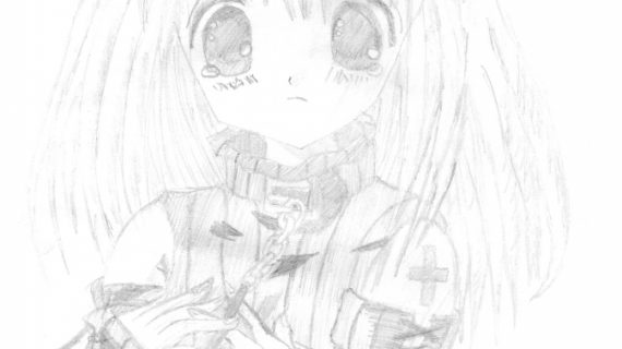 570x320 Cute Anime Drawings Cute Anime Girl Looking Sad Rusty182 On