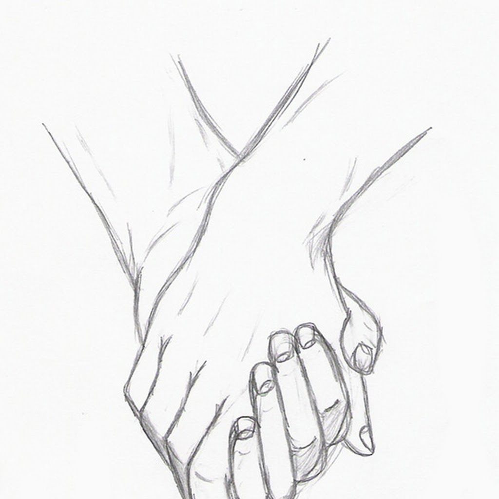1024x1024 Pictures Couple Anime Drawing Holding Hands,