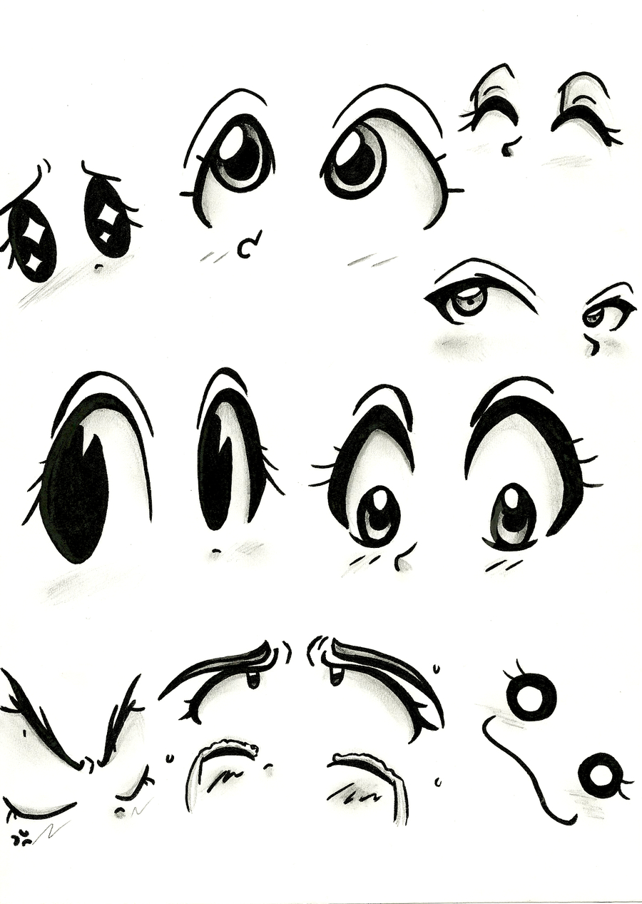 900x1267 Drawing Of Girl With Cute Eyes Tutorial How To Draw Cute Anime