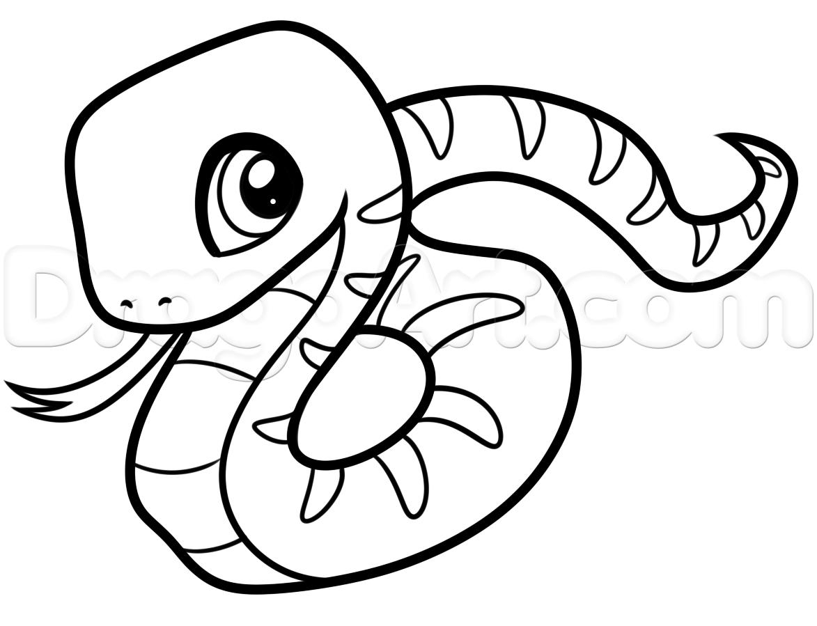 1173x899 Drawn Snake Easy Draw