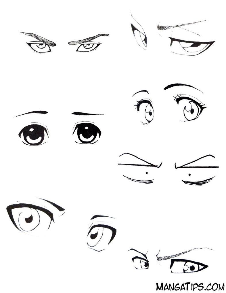 786x1017 Eye Studyreference By Mangatips Com