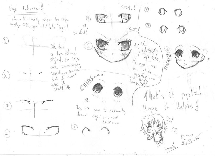 900x654 Anime Eye Tutorial Female By Sanekoprinceoftennis