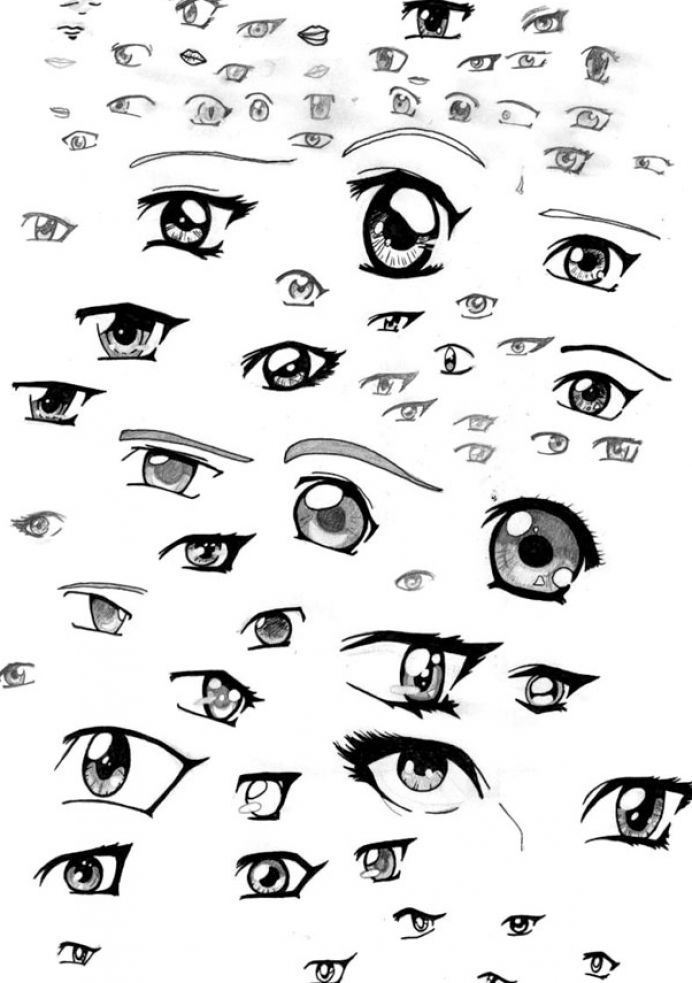 692x983 How To Draw Anime How To Draw Cute Anime Eyes Pictures 4 Anime