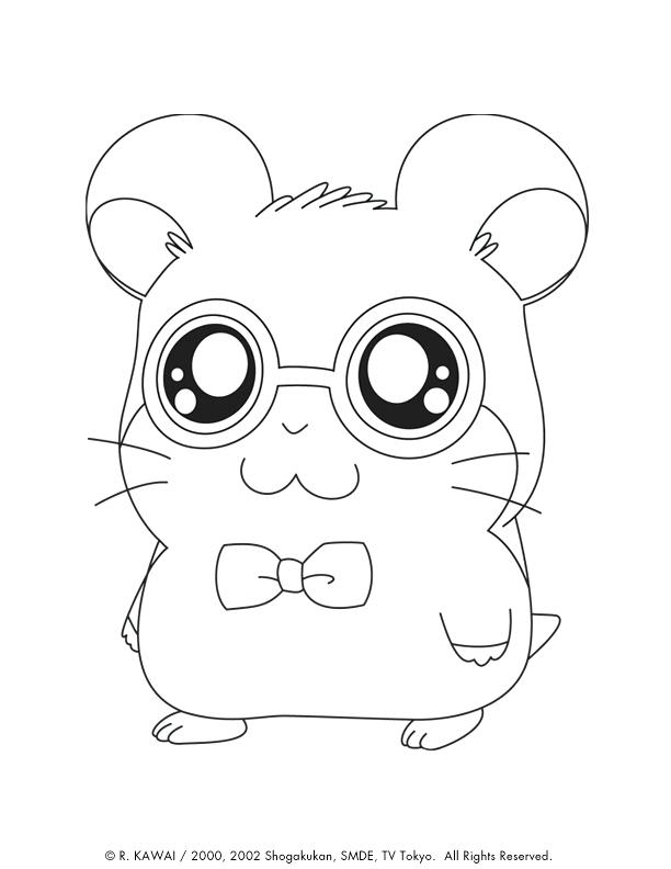 612x792 Printable Cute Baby Animal Coloring Pages