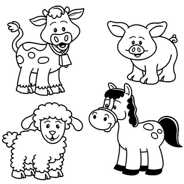 640x639 Extraordinary Animal Coloring Pages Picture Inspirations Cute Baby