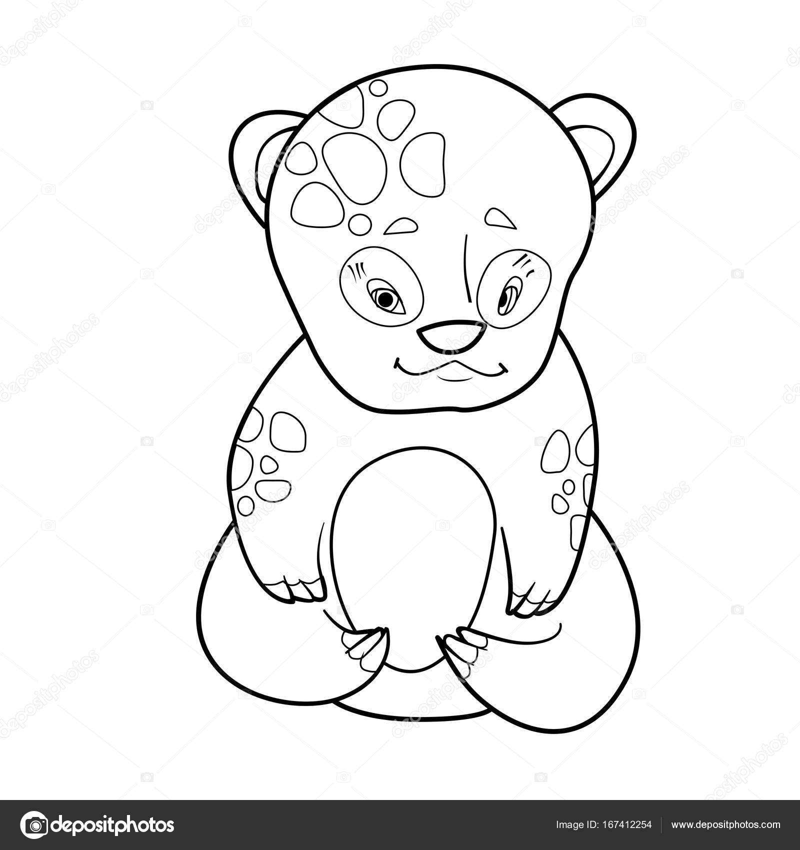 1600x1700 Coloring Book With Cartoon Of Cute Baby Bear Stock Vector