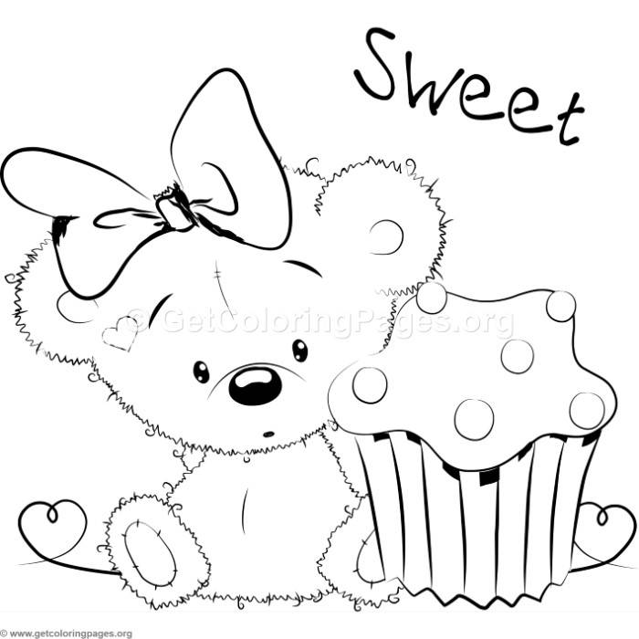 700x700 Cute Baby Bear Coloring Pages