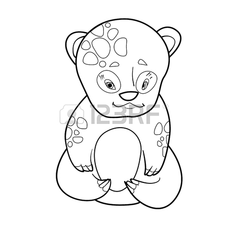 450x450 Illustration With Cute Blue Baby Bear Royalty Free Cliparts