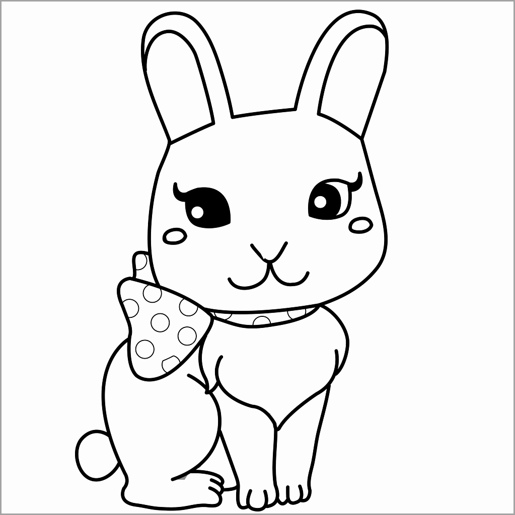 1023x1024 11 Fresh How To Draw A Cute Baby Bunny Step By Step