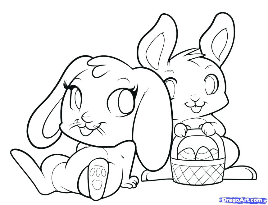 863x660 Cute Bunny Coloring Sheets