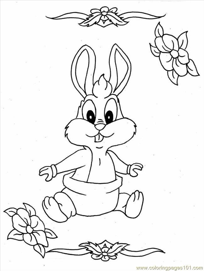 650x862 Baby Bunnies Coloring Pages