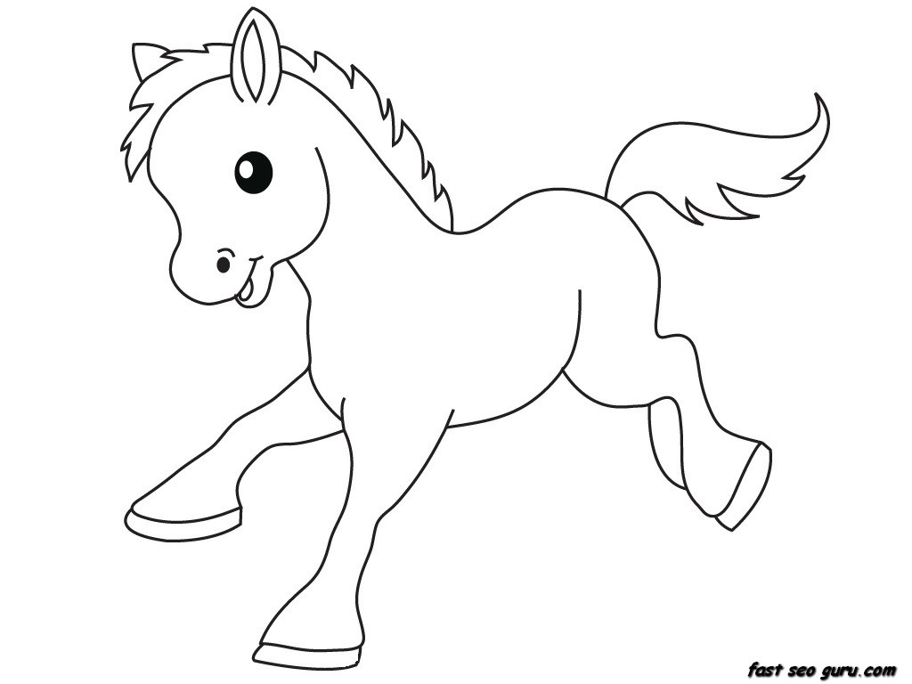 1024x768 Cute Baby Animal Coloring Pages