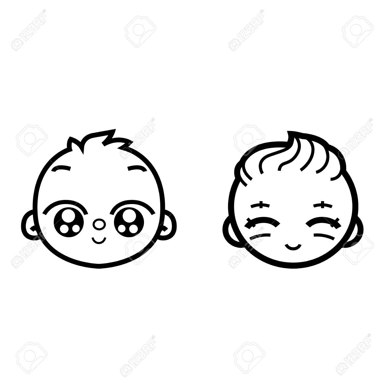 1300x1300 Cute Baby Boy Sketches
